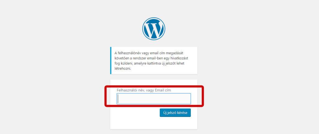 Wordpress elfelejtett jelszó pótlása