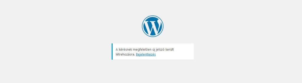 Wordpress elfelejtett jelszó új jelszó beállítása