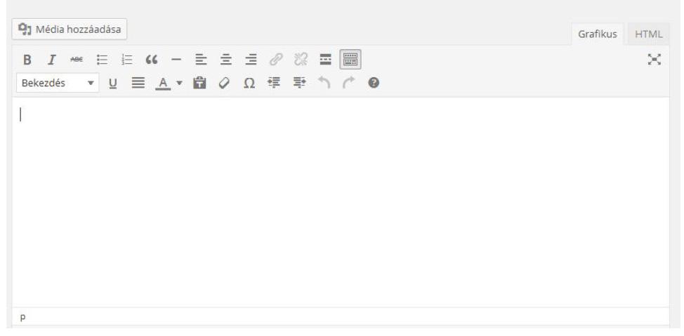 Wordpress oldal szerkesztése